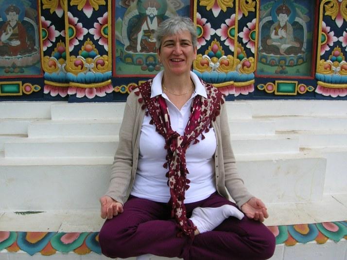 Mary Abraham yoga pose - Sydney yoga for seniors and over 50s
