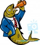 herring-fish-business-suit-drinking-beer-bottle-100216907