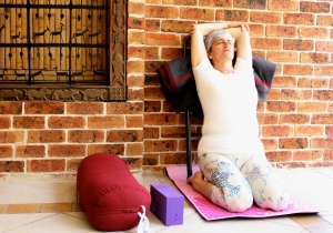 Easier version of Supta Virasana