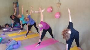 Pink yoga class Randwick