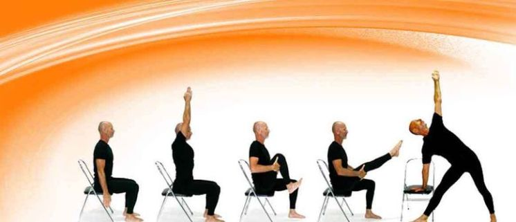 Chair yoga photo